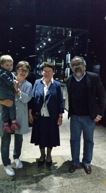 At the F.M.Dostoevsky Literary-Memorial Museum with Natalia Ashimbaeva (Director) Vera Biron (Curator) and Vera's granddaughter