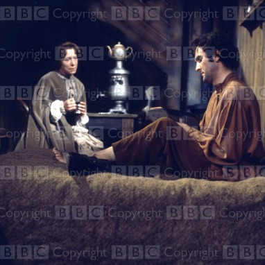 The Possessed Transmission Date: 25/01/1969 Annotation: Picture shows - Anne Stallybrass as Asha and James Caffrey as Shatov in the six-part dramatisation of 'The Possessed' by Frydor Dostoevsky, to be shown on BBC2 on Saturday 25th January 1969. Personalities: (l-r) Stallybrass, Anne ; Caffrey, James Location: GB Genre: Drama Ref Number: 2870449