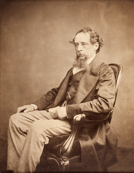 Photo of Charles Dickens, circa 1860s. Source: Heritage Auction Gallery