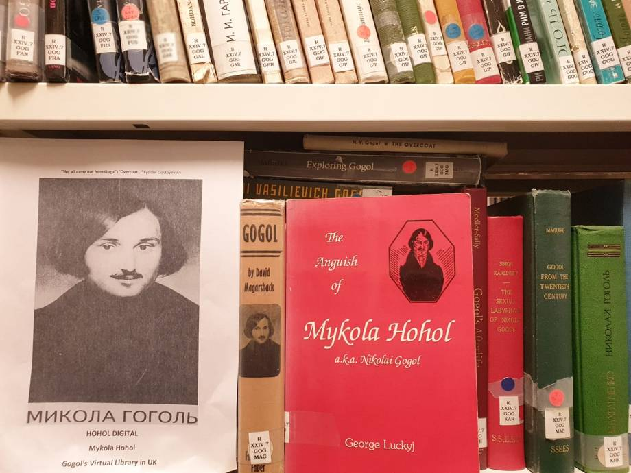 Mykola Hohol a.k.a. Nikolai Gogol's collection of books at UCL SSEES Library